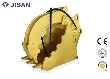 Non Rotary Excavator Ambil Bucket Hydraulic Large Jaw Opening untuk CAT320 CAT330